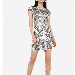 Sequin Embellished Cap Sleeve Mini Bodycon Dress
